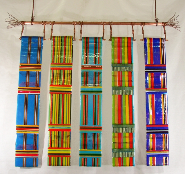 Fused-Glass-Wall-Hanging-Kente-Cloth