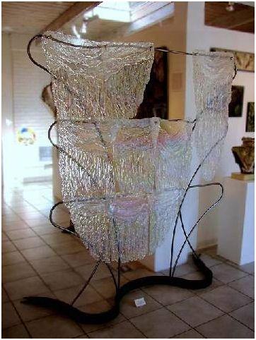 Kiln-Formed-Glass-Room-Divider-on-a-Metal-Frame